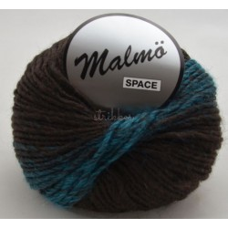 Lammy yarns malmö space 909 lyseblå/brun
