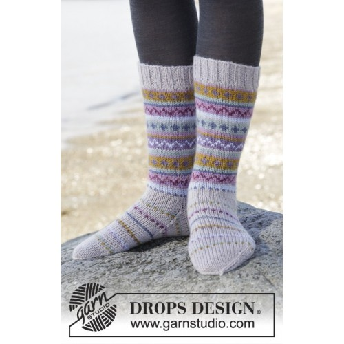 Sweet As Candy Socks by DROPS Design 35-46 DROPS KARISMA