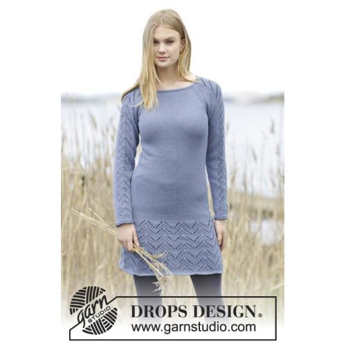 Blue September by DROPS Design S-XXXL DROPS COTTON MERINO
