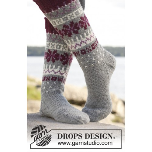 September Socks by DROPS Design 35-43 DROPS LIMA