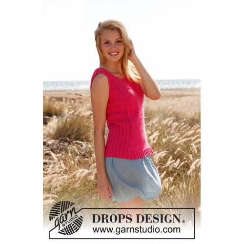 Pretty pink by DROPS Design S-XXXL DROPS COTTON LIGHT