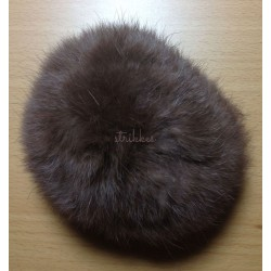Pompon kanin brun 10 cm