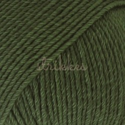 Drops Cotton Merino UNI farve 22 mørk grøn