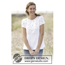 Summer Leaves Top by DROPS Design S-XXXL DROPS MUSKAT