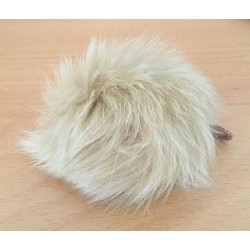 Pompon kanin beige 70 - 90 mm